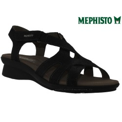 mephisto-chaussures.fr livre à Paris Mephisto PARCELA Noir nubuck brillant sandale