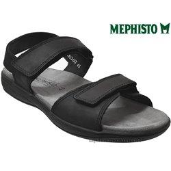 mephisto-chaussures.fr livre à Paris Lyon Marseille Mephisto SIMON Noir cuir sandale
