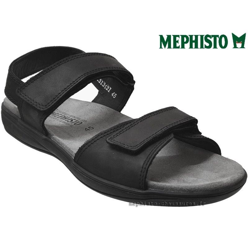 SIMON Noir cuir 45 (fr) Sandale