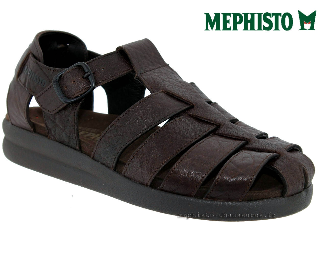 Mephisto Sandale Cuir Marron Sam Grain W4nnq7vz0