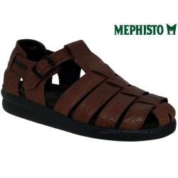 mephisto-chaussures.fr livre à Changé Mephisto SAM GRAIN Marron moyen cuir sandale