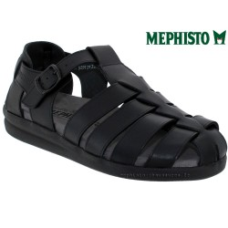 mephisto-chaussures.fr livre à Fonsorbes Mephisto SAM LISSE Noir cuir sandale