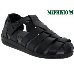 mephisto-chaussures.fr livre à Paris Lyon Marseille Mephisto SAM LISSE Noir cuir sandale