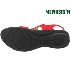 PARIS Rouge nubuck 37(fr) sandale