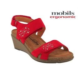 mephisto-chaussures.fr livre à Triel-sur-Seine Mobils WILLOW Rouge nubuck sandale