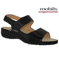 femme mephisto Chez www.mephisto-chaussures.fr Mobils GETHA Noir cuir sandale