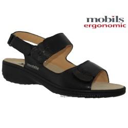 Sandale Méphisto Mobils GETHA Noir cuir sandale