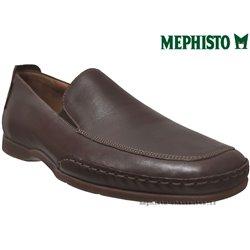 Mode mephisto Mephisto EDLEF Marron fonce cuir mocassin