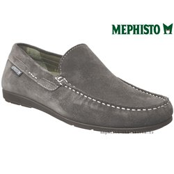 Mephisto Chaussure Mephisto ALGORAS Gris velours mocassin