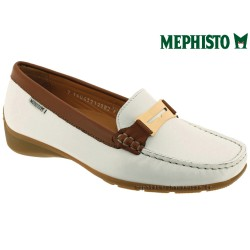 Mode mephisto Mephisto NORMA Blanc cuir mocassin