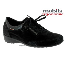 femme mephisto Chez www.mephisto-chaussures.fr Mobils Sabrina Noir cuir lacets