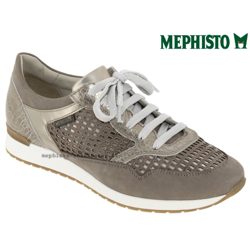 Mephisto Napolia Taupe cuir basket-mode