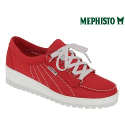 mephisto-chaussures.fr livre à Paris Lyon Marseille Mephisto Lady Rouge nubuck lacets
