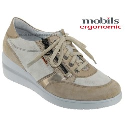 Mode mephisto Mobils Patrizia Beige cuir lacets