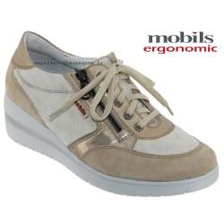 mephisto-chaussures.fr livre à Paris Mobils Patrizia Beige cuir lacets