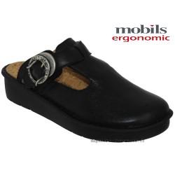 Méphisto tong femme Chez www.mephisto-chaussures.fr Mobils Ocilia Noir cuir sabot