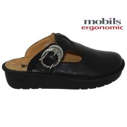 Mobils Ocilia Noir cuir sabot