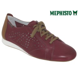 mephisto-chaussures.fr livre à Gravelines Mephisto Belisa perf Rouge cuir lacets