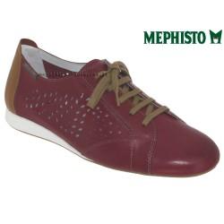 mephisto-chaussures.fr livre à Gravelines Mephisto Belisa perf Rouge cuir lacets