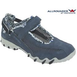 Chaussures femme Mephisto Chez www.mephisto-chaussures.fr Allrounder NIRO FILET Bleu Jeans Daim basket-mode