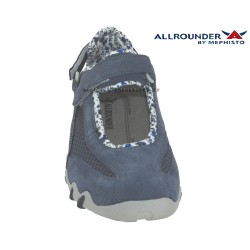 Allrounder NIRO FILET Bleu Jeans Daim basket-mode