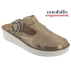 Méphisto tong femme Chez www.mephisto-chaussures.fr Mobils Ocilia Or cuir sabot