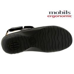 Mobils GETHA Noir cuir sandale