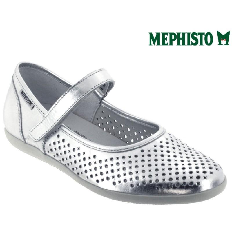 Mephisto KRISTA PERF Gris cuir ballerine