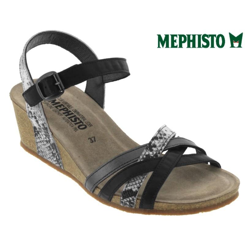 Mephisto Mado Noir cuir sandale