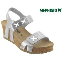 mephisto-chaussures.fr livre à Andernos-les-Bains Mephisto Loreta Argent cuir sandale