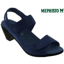 mephisto-chaussures.fr livre à Oissel Mephisto Cecila Marine nubuck sandale