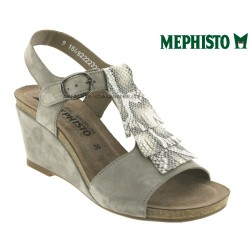 SANDALE FEMME MEPHISTO Chez www.mephisto-chaussures.fr Mephisto Jenny Gris clair velours sandale