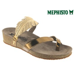 mephisto-chaussures.fr livre à Gravelines Mephisto Immy Doré cuir tong