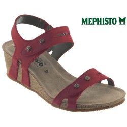 mephisto-chaussures.fr livre à Gravelines Mephisto Mina Rouge cuir sandale