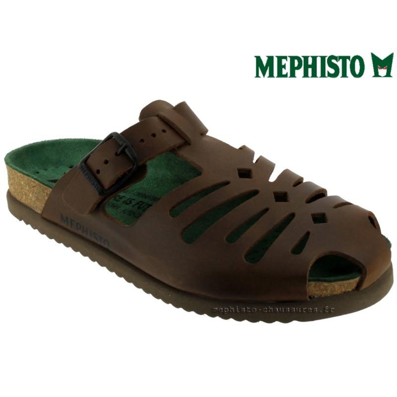 Mephisto Wood Marron cuir sabot