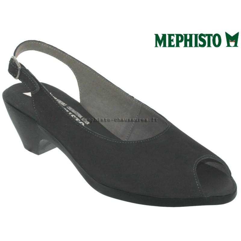 Mephisto Magdalena Noir cuir nu-pied