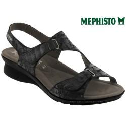 Sandale femme Méphisto Chez www.mephisto-chaussures.fr Mephisto PARIS Noir cuir sandale