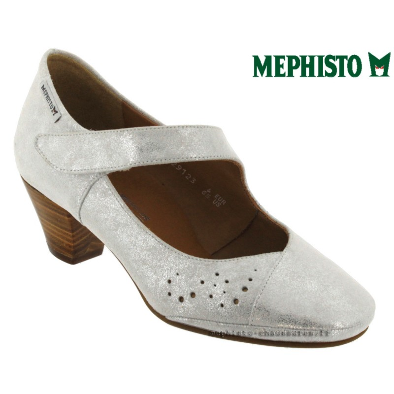 Mephisto PATTY Blanc nubuck brillant escarpin