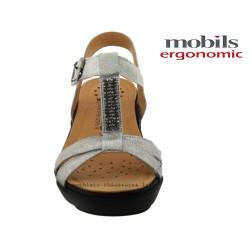 Mobils FELIZIA Gris cuir sandale