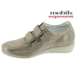Mobils JENNA Taupe cuir mocassin