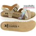 Mobils Thina Beige cuir sandale