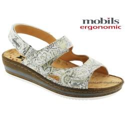 Sandale femme Méphisto Chez www.mephisto-chaussures.fr Mobils Laura Blanc cuir sandale