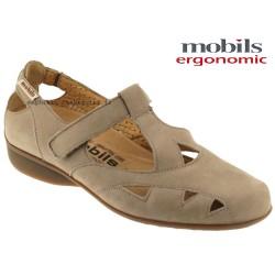 mephisto-chaussures.fr livre à Saint-Sulpice Mobils Fantine Beige nubuck ballerine