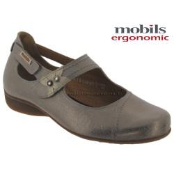 femme mephisto Chez www.mephisto-chaussures.fr Mobils FLEUR Taupe cuir brillant ballerine