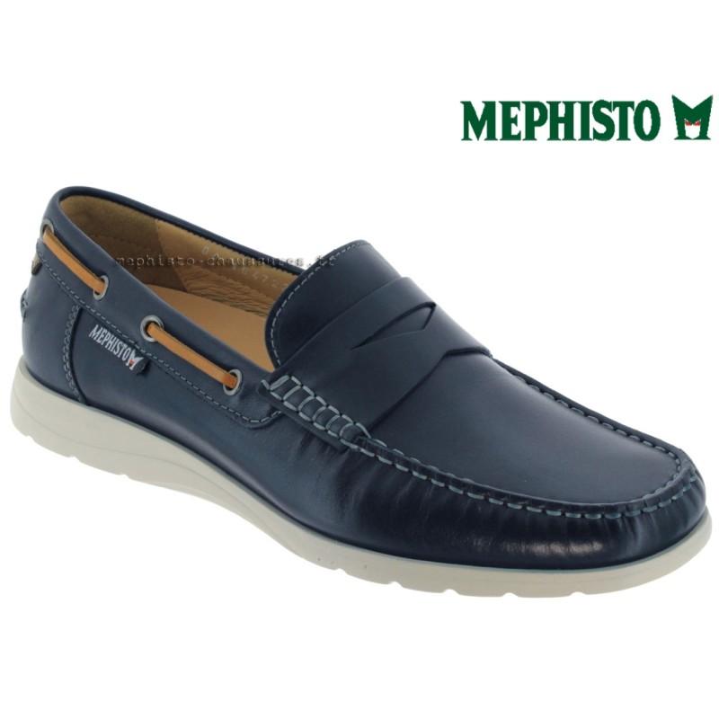 Mephisto GINO Marine cuir mocassin
