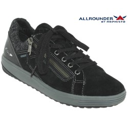 Mode mephisto Allrounder Madrigal Noir velours basket-mode