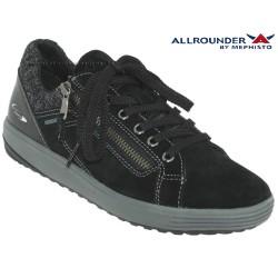mephisto-chaussures.fr livre à Oissel Allrounder Madrigal Noir velours basket-mode
