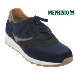 mephisto-chaussures.fr livre à Cahors Mephisto Telvin Marine cuir basket-mode