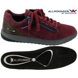 Allrounder Madrigal Prune velours basket-mode