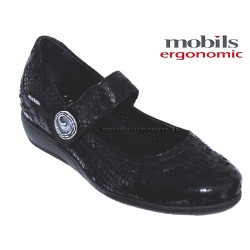 Mobils JESSY Noir cuir mary-jane